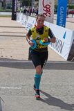 Participants in the Swimrun Costabrava competition in in a small town Playa de Aro in Spain Royalty Free Stock Images