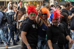 Participants in technoparade(Dream nation electronic music festi Royalty Free Stock Images