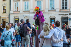 Participants at the 28th International Festival of Street Theatres. Royalty Free Stock Image