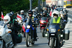 14th International Motorcycle Katyn Rally Royalty Free Stock Photo