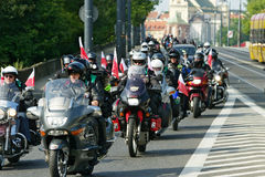 14th International Motorcycle Katyn Rally Royalty Free Stock Photo