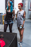 Participants at 10-th International Tattoo Convention in Congress-EXPO Center. Stock Photo