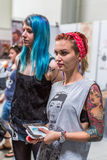Participants at 10-th International Tattoo Convention in Congress-EXPO Center. Royalty Free Stock Images