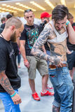 Participants at 10-th International Tattoo Convention in Congress-EXPO Center. Stock Photos