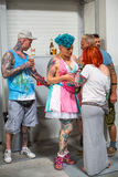 Participants at 10-th International Tattoo Convention in Congress-EXPO Center. Royalty Free Stock Photo