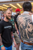 Participants at 10-th International Tattoo Convention in Congress-EXPO Center Stock Photos