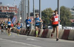 Participants of 5th Moscow Marathon Stock Photography