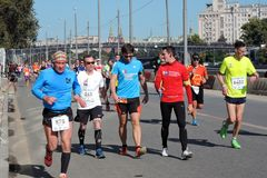 Participants of 5th Moscow Marathon Stock Image