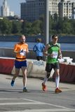 Participants of 5th Moscow Marathon Stock Images