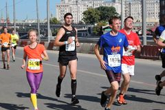 Participants of 5th Moscow Marathon Royalty Free Stock Image