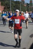 Participants of 5th Moscow Marathon stock photos