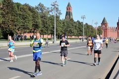 Participants of 5th Moscow Marathon Royalty Free Stock Images