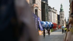 Participants of 72th Tour de Pologne cycling 7th stage race stock video footage