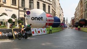 Participants of 72th Tour de Pologne cycling 7th stage race. stock footage