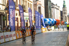 Participants of 72th Tour de Pologne cycling 7th stage race Royalty Free Stock Photography