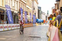 Participants of 72th Tour de Pologne cycling 7th stage race Royalty Free Stock Image