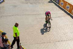 Participants of 72th Tour de Pologne cycling 7th stage race Stock Images