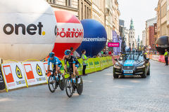 Participants of 72th Tour de Pologne cycling 7th stage race Royalty Free Stock Images