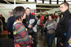 Participants and visitors of an open exhibition-real estate seminar Housing project Stock Photography