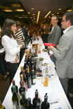 Participants and visitors to the business exhibition of manufacturers and suppliers of italian wines and food  vinitaly Stock Images