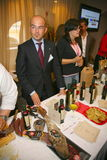 Participants and visitors to the business exhibition of manufacturers and suppliers of italian wines and food  vinitaly Stock Photography