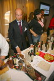 Participants and visitors to the business exhibition of manufacturers and suppliers of italian wines and food  vinitaly Royalty Free Stock Images
