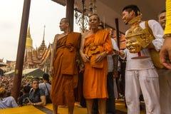 Participants Wai Kroo (Luang Por Phern) Master Day Ceremony at Bang Pra monastery. Royalty Free Stock Photo