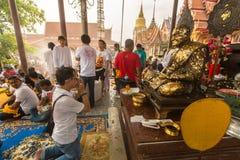 Participants Wai Kroo (Luang Por Phern) Master Day Ceremony at Bang Pra monastery. Royalty Free Stock Images