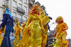 Participants of the Zinneke Parade 2018, Brussels Royalty Free Stock Photos