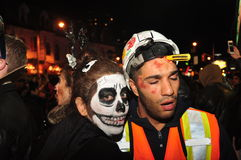 Participants in Zombie Crawl and Parade 2015, Toronto, Ontario, Canada Stock Photography