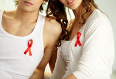 Participating in AIDS campaign Royalty Free Stock Images