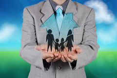 Participation de main d'homme d'affaires Photo libre de droits