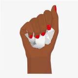 Participation de main de femme illustration de vecteur