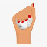 Participation de main de femme illustration libre de droits