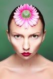 Participation lumineuse de backround de portrait de femme de beauté Images stock