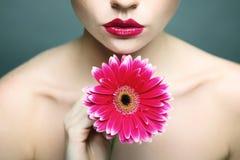 Participation lumineuse de backround de portrait de femme de beauté Photos libres de droits