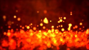 Particle Background - Loop Fiery stock video footage