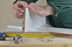 Particle Board and Elements Stock Photography