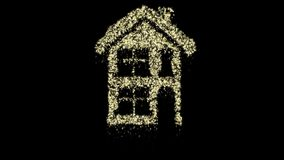 Particle Christmas house animation, alpha channel, seamless loop. Perfectly suite for you video as overlay or background. Call for customize stock video