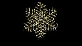 Particle Christmas snowflake animation, alpha channel, seamless loop. Perfectly suite for you video as overlay or background. Call for customize stock footage