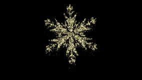 Particle Christmas Snowflake Animation, Alpha Channel, Seamless loop. Perfectly suite for you video as overlay or background. Call for customize stock video footage