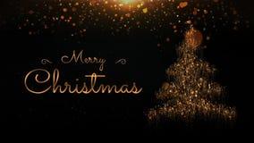 Particle Christmas Tree Merry Christmas Explode 4K Loop