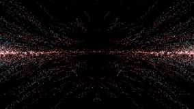 Particle fantasy motion, Abstract fantasy motion background, shi. Ning lights, glowing energy waves and sparkling fireworks stile particles vector illustration
