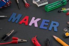 Particle maker kit, electronics project maker kit. Stock Photo