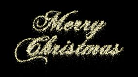 Particle Merry Christmas Animation, Alpha Channel, Seamless loop. Perfectly suite for you video as overlay or background. Call for customize stock video footage