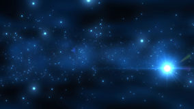 Particle in the outer space Royalty Free Stock Photography