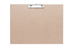 Particle wood clipboard on white background with clipping path Stock Photos
