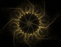 Particles of abstract fractal forms on the subject of nuclear physics science and graphic design. Geometry sacred futuristic quant. Um digital hologram texture Stock Photography