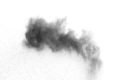 The particles of charcoal Royalty Free Stock Photography