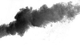 The particles of charcoal Royalty Free Stock Image